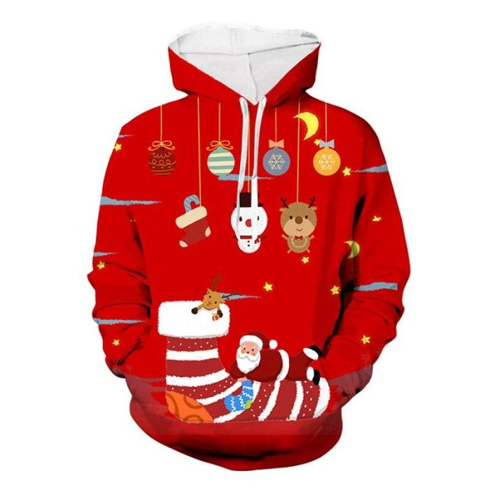 Ugly Christmas Sweater 3D Printing Snowman Oversized Pullovers Christmas Woman Santa Claus Funny Autumn Winter Warm Sweater