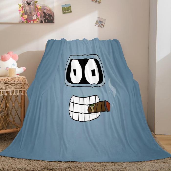 Futurama Cosplay Flannel Blanket Throw Comforter Bedding Sets