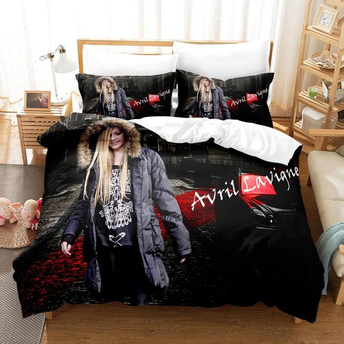 Avril Lavigne Cosplay Bedding Sets Duvet Covers Comforter Bed Sheets