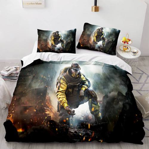 Rainbow Six Siege Cosplay Bedding Set Quilt Duvet Covers Bed Sheets