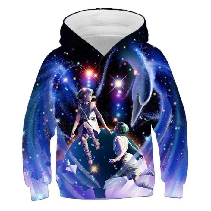 Baby Boys Cartoon Zodiac 3D Hoodies Kids Autumn Clothes Girls Children Clothing Long Sleeve Sweatshirts Unisex Tops 4-14 Years