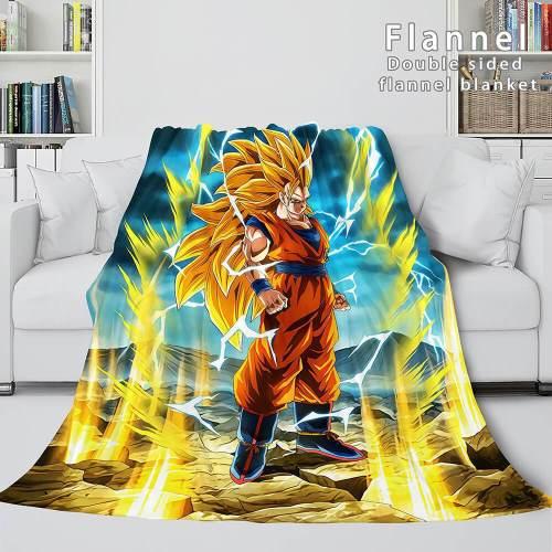 Dragon Ball Cosplay Flannel Blanket Throw Comforter Bedding Sets