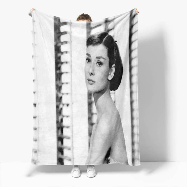 Audrey Hepburn Flannel Throw Blanket Micro Fleece Plush Covers Blanket
