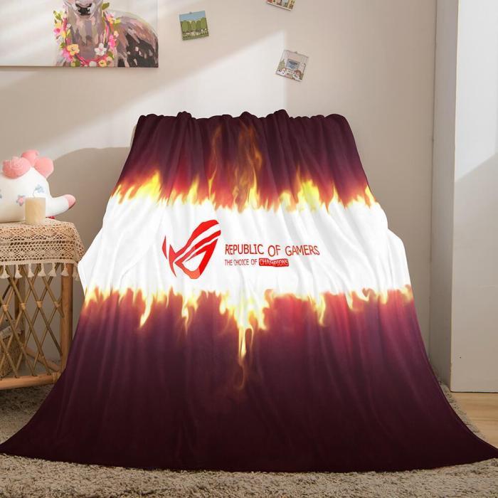 Gamer Cosplay Flannel Blanket Throw Comforter Sets Bedding Blanket