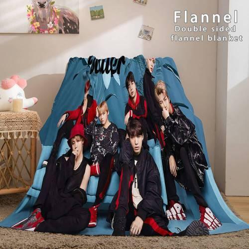 Bts Butter Cosplay Flannel Blanket Throw Comforter Bedding Sets