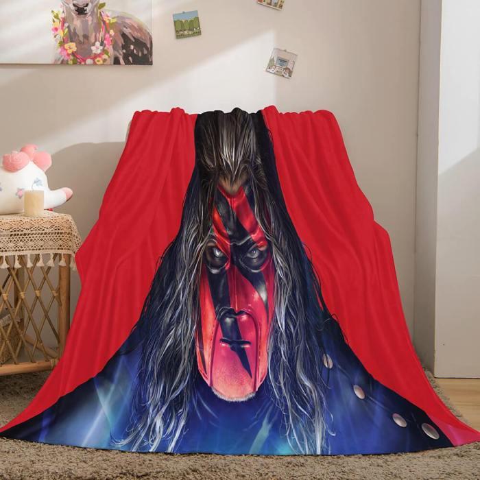 Wwe World Wrestling Entertainment Cosplay Flannel Fleece Throw Blanket