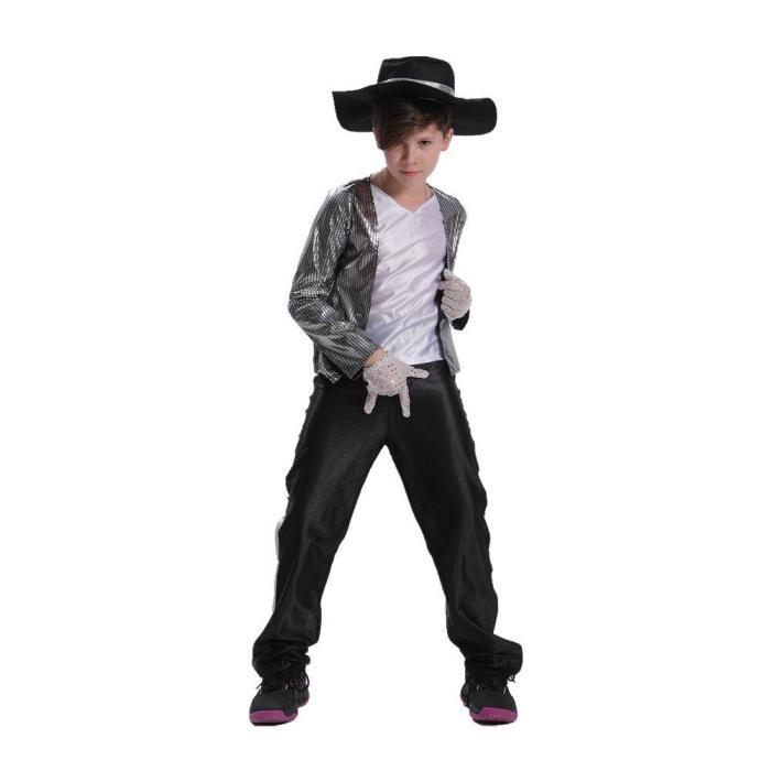 Boys Kids Michael Jackson Cosplay Dancer Costume Clothing Birthday Carnival Halloween Costumes
