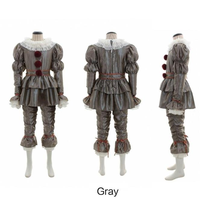 Pennywise Costume Halloween Costume Stephen King'S It Adult Party Men And Women Fancy Halloween Outfit Suit Clown Costume