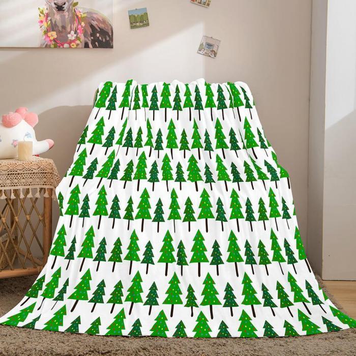 Merry Christmas Flannel Fleece Throw Cosplay Blanket Comforter Set