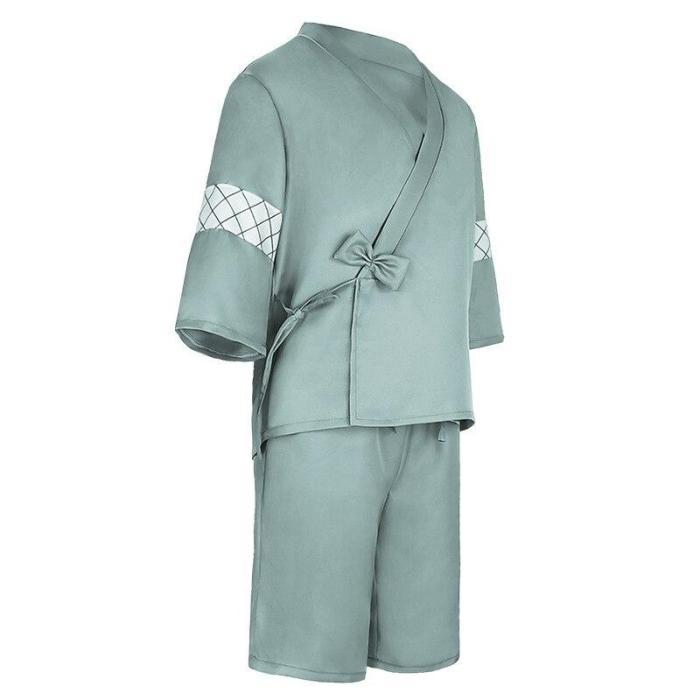 Anime Tokyo Revengers Mikey Cosplay Costume Green Kimono Set Summer Yukata Cardigan Kawaii Cute Pajamas Party Wear