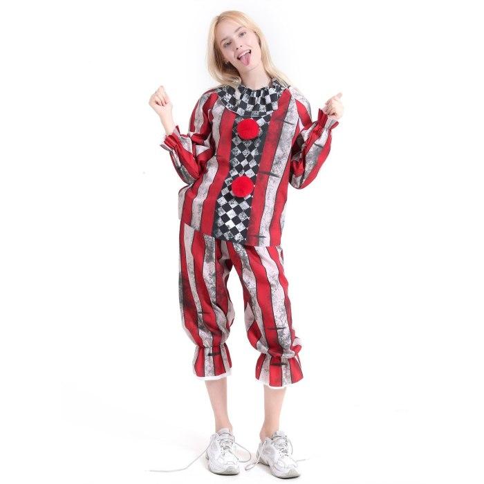 Halloween Costumes Adult Funny Party Clown Costume Naughty Joker Jester Uniform Fancy Dress Cosplay For Men Women