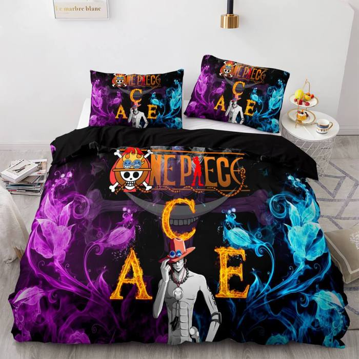 One Piece Cosplay Bedding Sets Soft Duvet Covers Comforter Bed Sheets