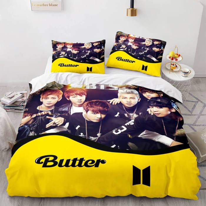 Bts Butter Cosplay Bedding Sets Duvet Covers Comforter Bed Sheets