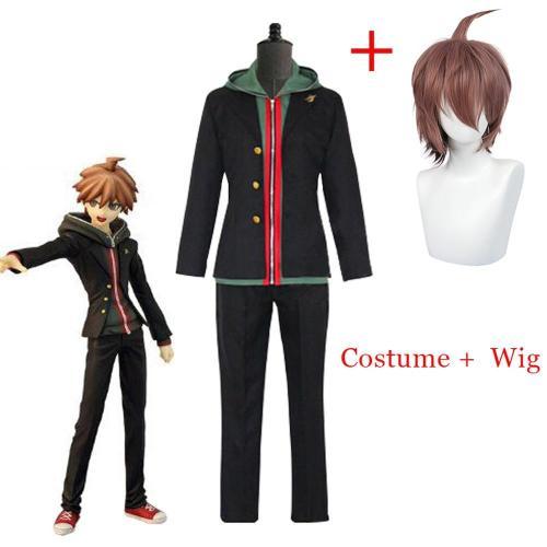 Anime Danganronpa Dangan Ronpa Makoto Naegi Coat Cosplay Costume Halloween Carnival Uniform And Wigs Customized Size Accepted