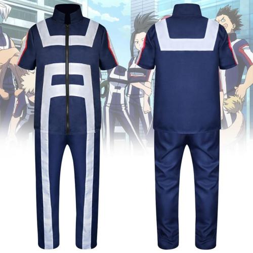 Anime Boku No Hero Bakugou Katsuki/Iida Tenya/Todoroki Shouto Cosplay Costume My Hero Academia Sportswear Full Set