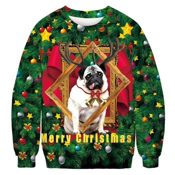 Ugly Christmas Sweater 3D Print Funny Xmas Pullover Hoodie  Round Neck Sweater Men Women Autumn Winter Plus Size Clothing
