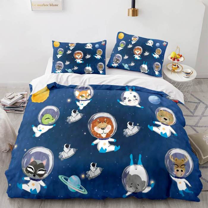 Space Astronaut Cosplay Bedding Sets Duvet Covers Comforter Bed Sheets