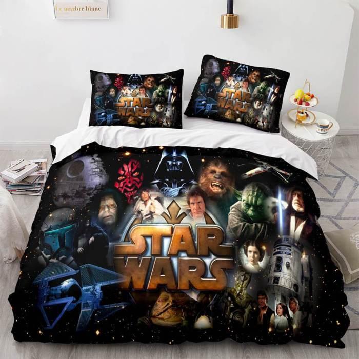 Star Wars Cosplay Bedding Set Duvet Cover Comforter Bed Sheets