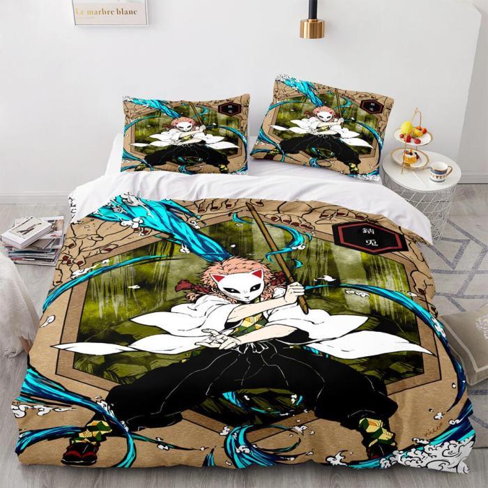 Demon Slayer Cosplay Bedding Set Duvet Covers Comforter Bed Sheets