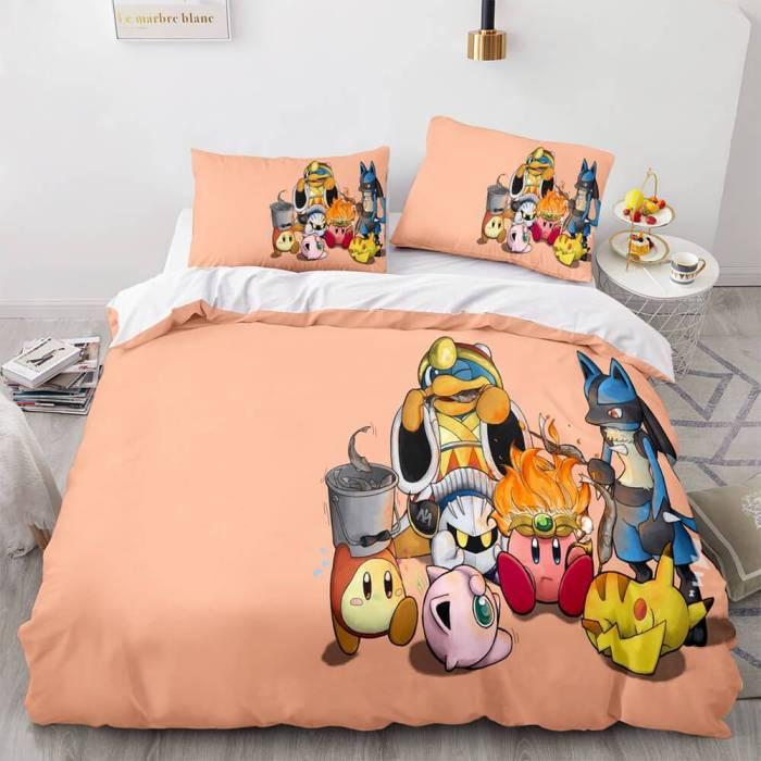 Pikachu Cosplay Bedding Set Full Duvet Covers Comforter Bed Sheets