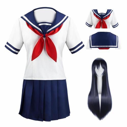 Anime Yandere Simulator Ayano Aishi Cosplay Costumes Girls School Jk Uniform Women Dresses Full Sets