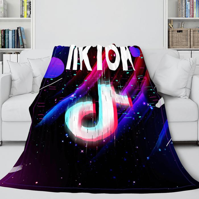 Tiktok Soft Flannel Fleece Throw Blanket Comforter Bedding Sets