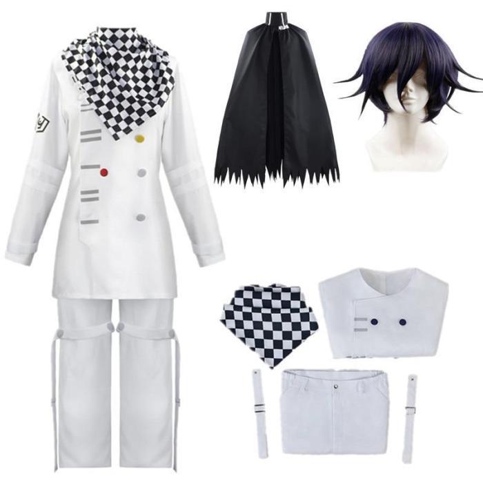 Anime Danganronpa V3 Kokichi Oma Uniforms Scarf Cloak Set Cosplay Costume Clothes
