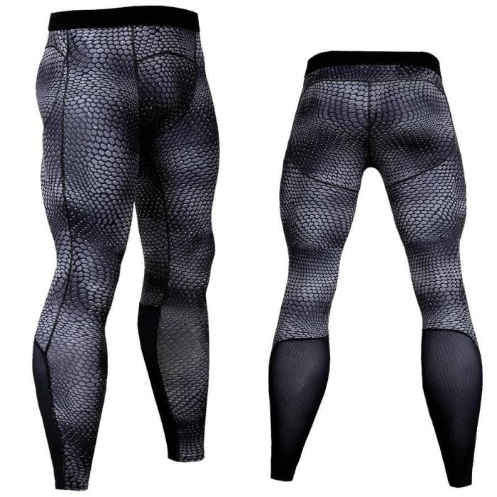 Men'S Sport Running Pants Tights Compression Pants Men Fitness Leggings Tights Workout Quick Dry Breathable Long Pants