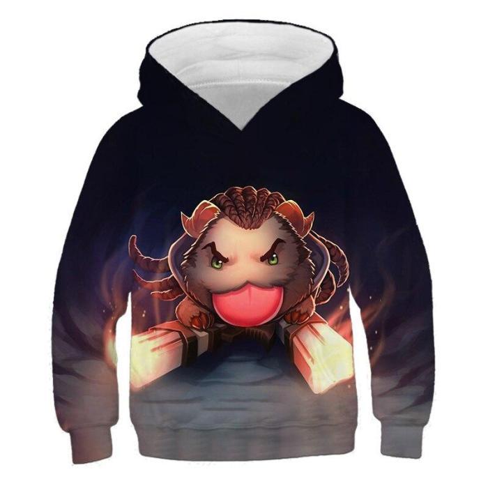 Children Hoodies Little Hero Jinx 3D Printing Hoodie Game Clothes 4-14T Hoodie Kids Casual Pullover Boy Girl Long Sleeve Sweater