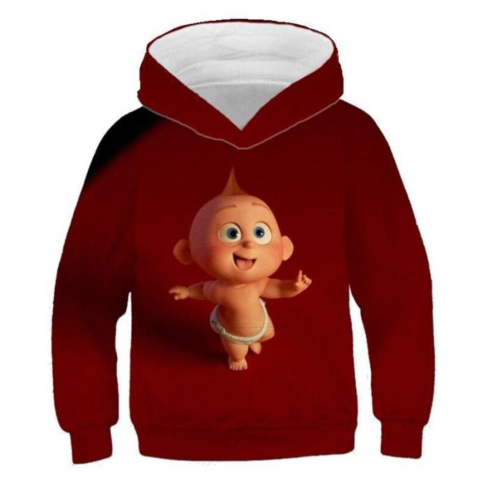 Kids Hoodies Super Family3D Printed Girls Sweatshirt Lovely Boys Tops Long Sleeve Sweater Children Clothes  4T-14T Kids