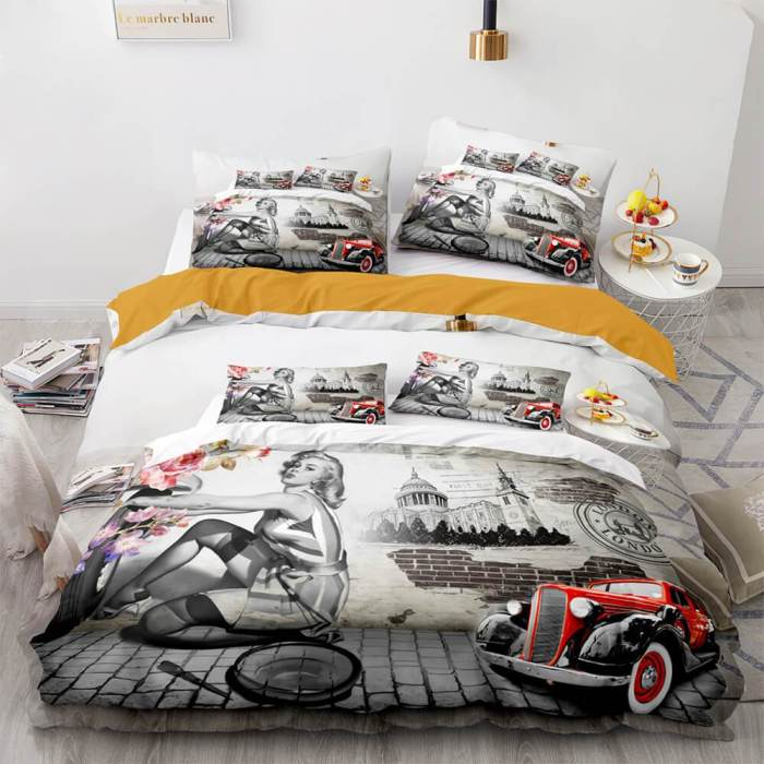 Marilyn Monroe Cosplay Bedding Sets Duvet Covers Comforter Bed Sheets