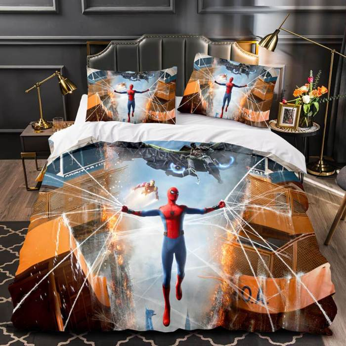 Spider-Man Homecoming Cosplay Bedding Sets Duvet Covers Bed Sheets