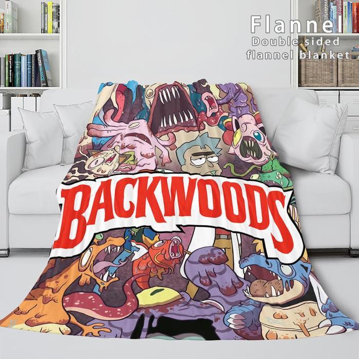 Backwoods Rink Super Soft Flannel Blanket Fleece Throw Blanket Sets