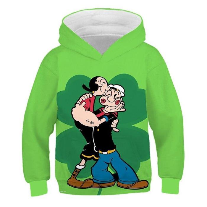 Boys  Top Long Sleeve Clothes Children Boy Girl Clothing 3D Print Cartoon Child Anime Fashion Sweatshirt Autumn Hoodies