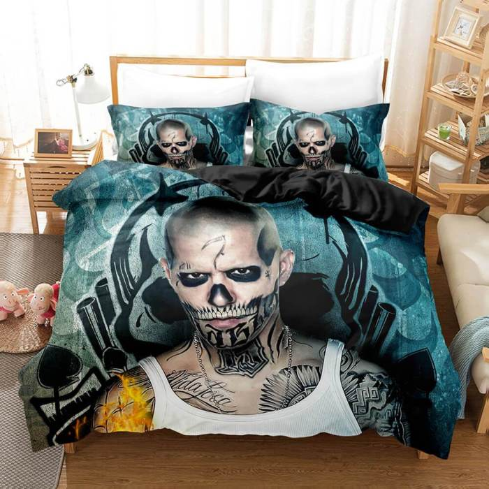 Suicide Squad Harley Quinn Bedding Set Duvet Cover Comforter Bed Sheets