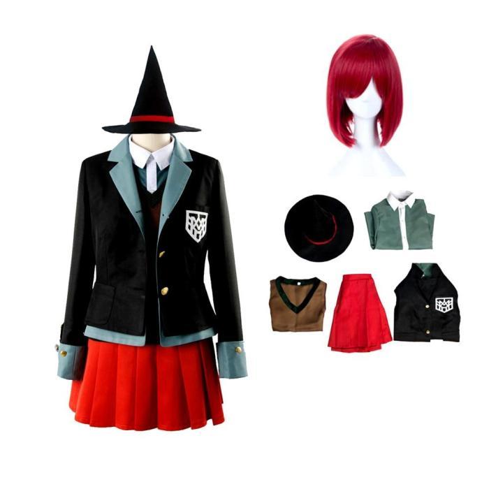 Anime Danganronpa Magician Yumeno Himiko Girl Uniform Cosplay Costume Halloween Party Set