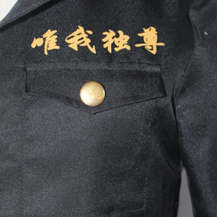 Anime Tokyo Revengers Manjiro Sano Cosplay Costume Black Uniform Ken Ryuguji Takemichi Hanagaki Tokyo Manji Gang Outfits