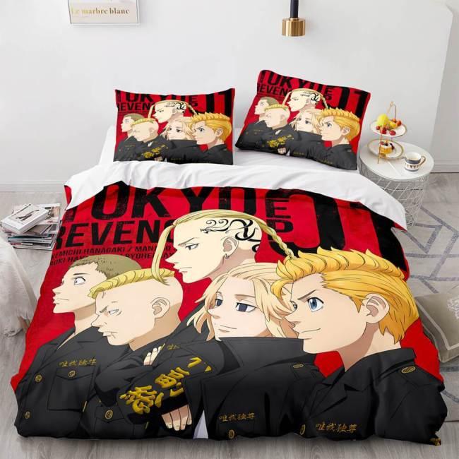 Tokyo Revengers Cosplay Bedding Set Duvet Covers Comforter Bed Sheets
