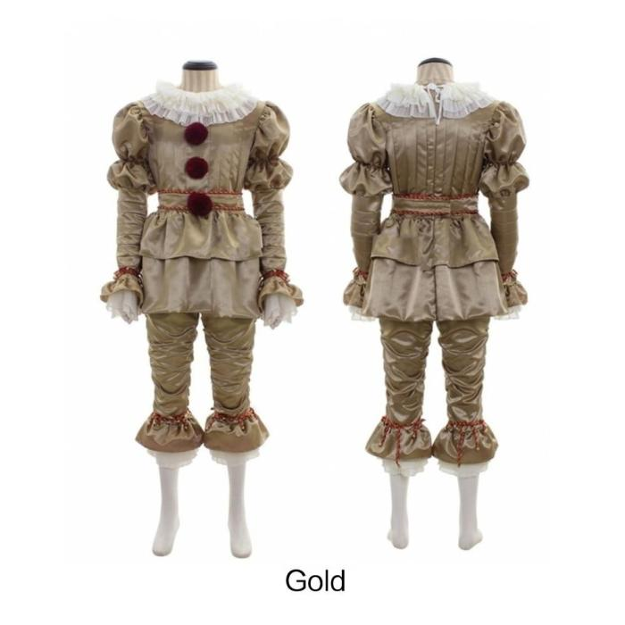 Stephen King'S It Pennywise Costume Halloween Costume Movie Clown Adult Cosplay Male Halloween Outfit Suit Clown Costume Dress
