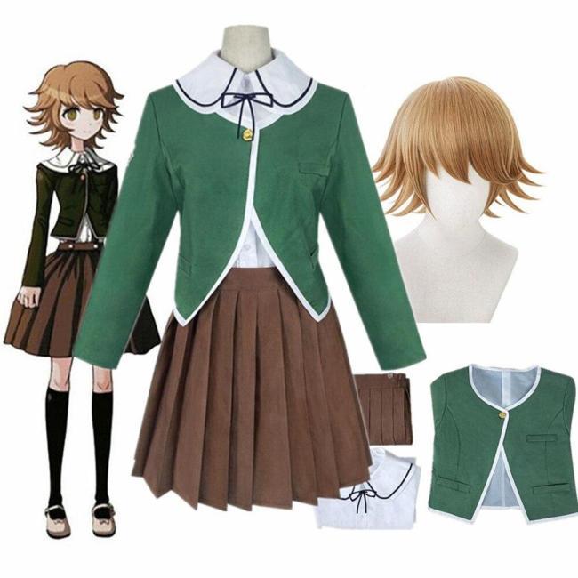 Danganronpa Chihiro Fujisaki Anime Women Dress Uniforms Set Cosplay Costumes