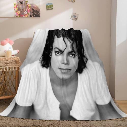 Michael Jackson Flannel Throw Blanket Micro Fleece Plush Covers Blanket
