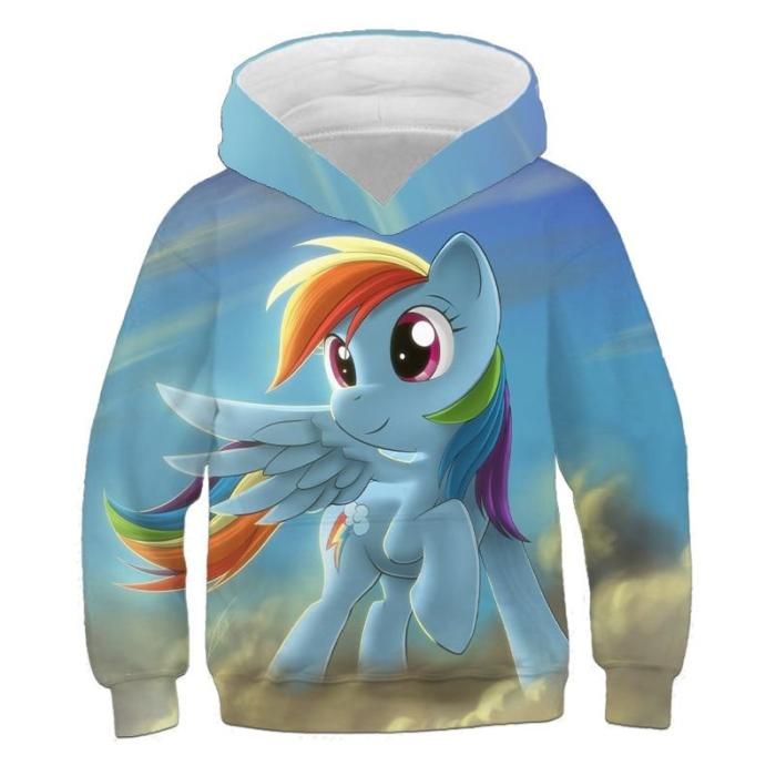 Autumn Kids Clothes Girls Sweatshirts With Hoodies Unicorn 3D Print Hooded Sweater For Children Outwear Baby Boys Long Tops
