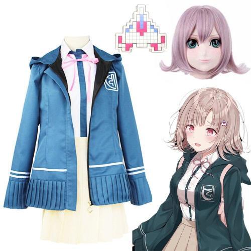 Anime Danganronpa 2 Chiaki Nanami Cosplay Costume School Uniform Halloween Costume For Women Girls