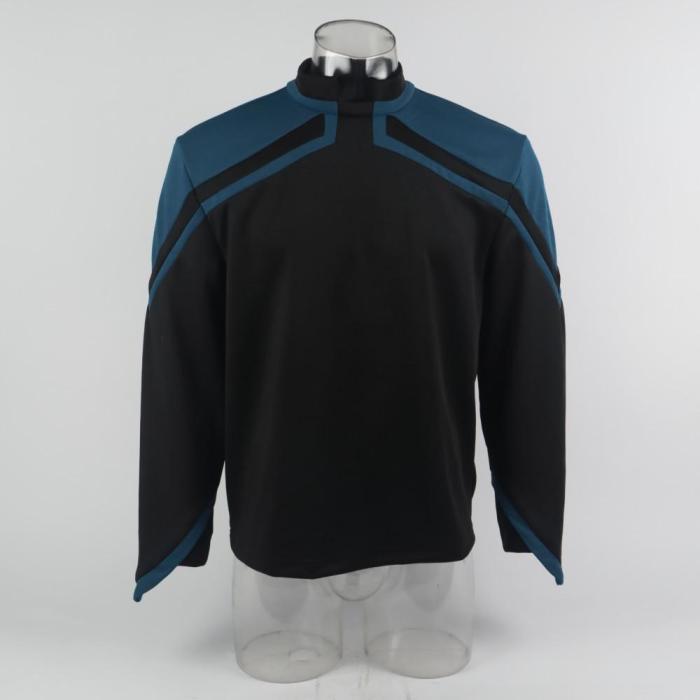 Star Trek Admiral Jl Picard Uniform Cosplay Startfleet Male Red Gold Blue Men Top Shirts Coat Adult Halloween Costume Prop