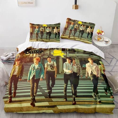 Bts Butter Cosplay Soft Bedding Set Full Duvet Covers Bed Sheets