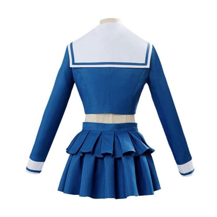Anime Danganronpa Killing Chabashira Tenko Cosplay Costumes Women Blue School Uniform Outfit Dress Sailor Suit