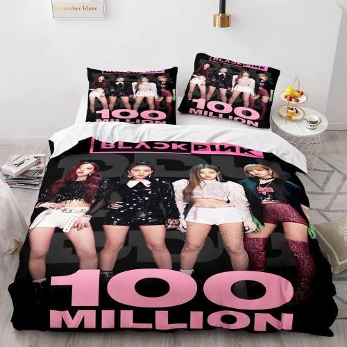 3-Piece Blackpink Cosplay Bedding Set Duvet Cover Sets Bed Sheets