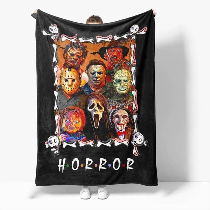 Horror Robe Flannel Blanket Fleece Throw Blanket Wrap Nap Bedding Sets