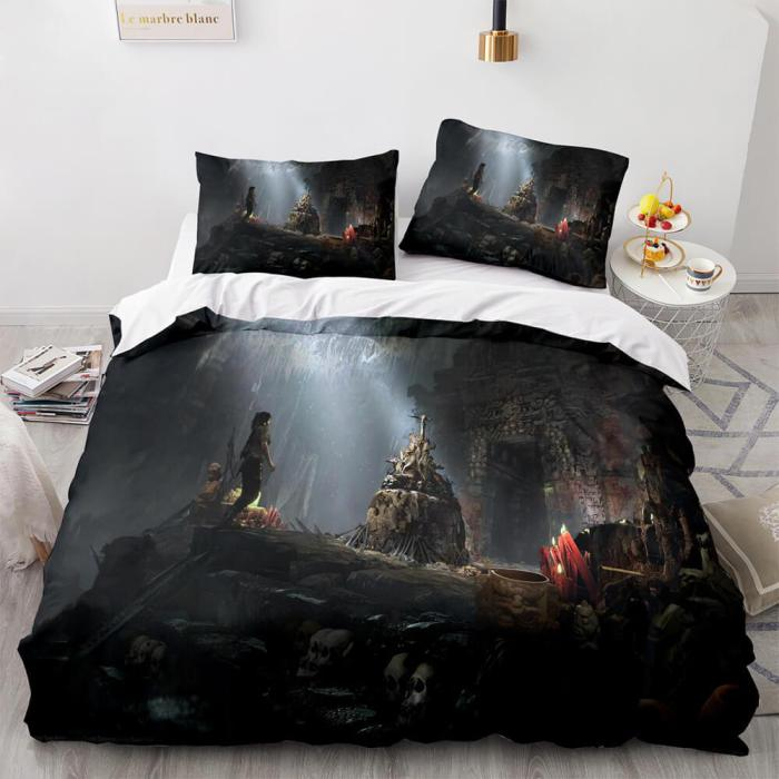 Game Tomb Raider Cosplay 3 Piece Bedding Sets Duvet Covers Bed Sheets