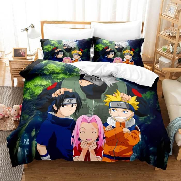 Naruto Cosplay Bedding Set Full Duvet Cover Comforter Soft Bed Sheets